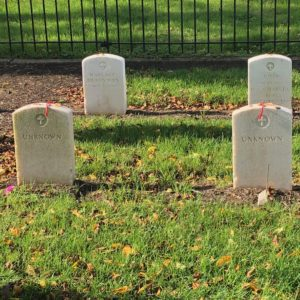 Unknown graves in Carlisle Indian cemetery